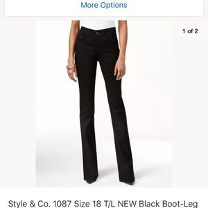Style & Co 18 Tall Bootleg Jeans tuMmy control NWT